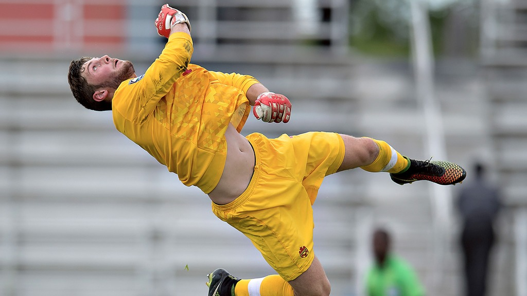 Nolan Wirth in action for Canada's U-20s. (Canada Soccer).