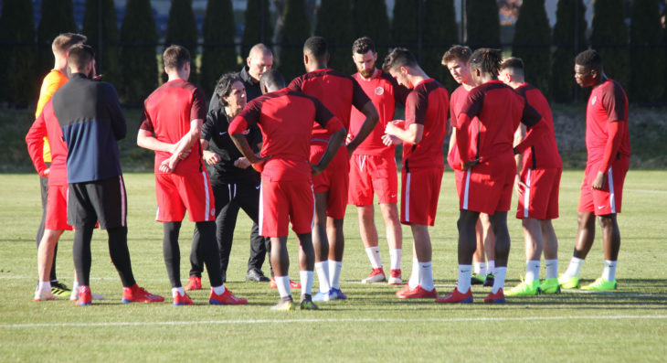 Canada during a training session ahead of a Nations League qualifier with French Guiana. (Canada Soccer)