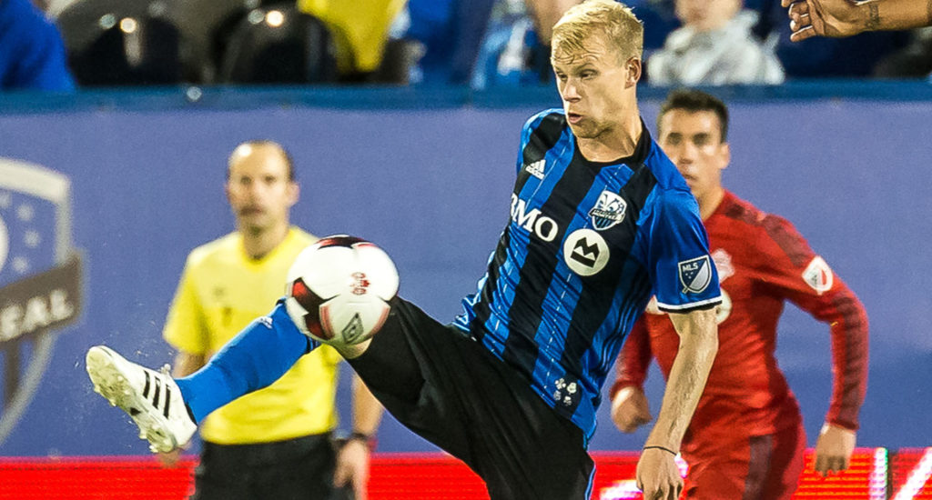 Bekker playing for Montreal against his former team Toronto Canadian Championship. (Canada Soccer).