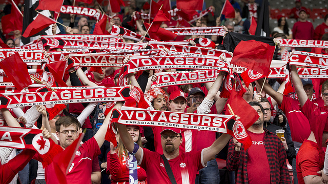 Canadian supporters at Vancouver's BC Place. (Canada Soccer)