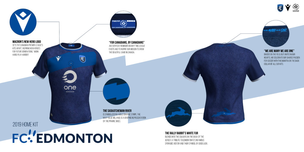 FC Edmonton's home kit. (Click to view full size).