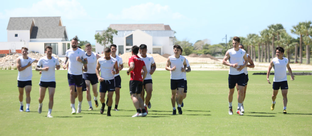 Pacific FC players take in training under the sun in Punta Cana. (Photo: Nora Stankovic/CPL).