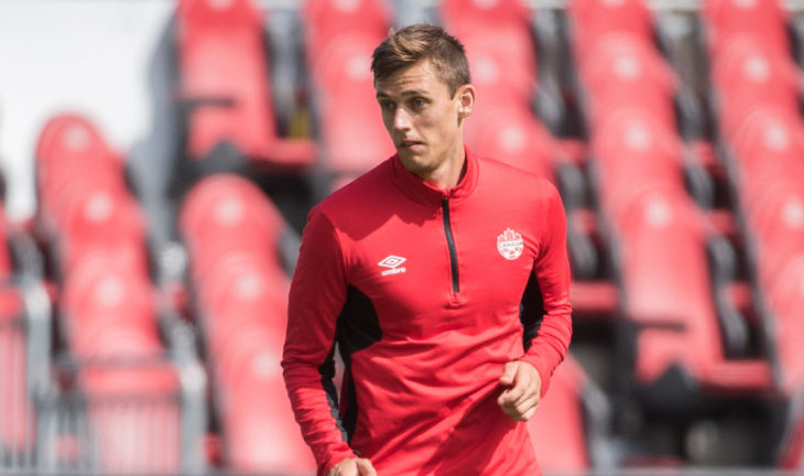 Amer Didic training with Canada in Sept. 2017. (Canada Soccer).