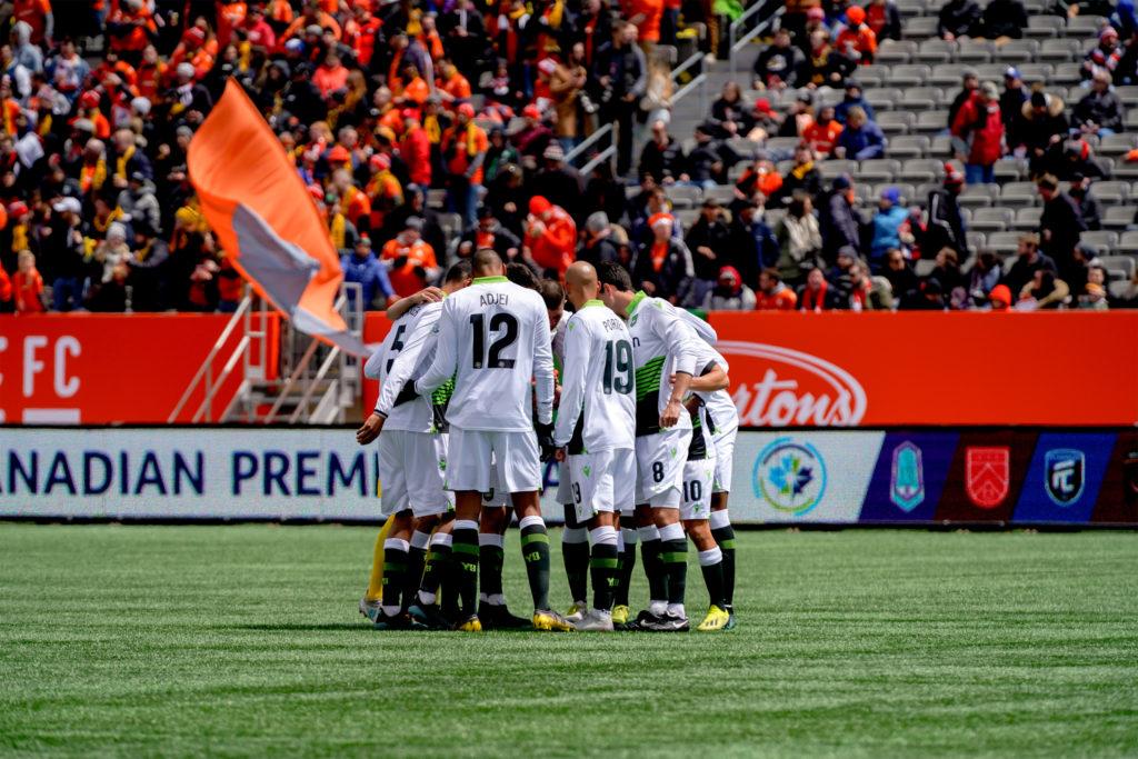 York9 prepare for kick-off. (Photo: CPL).