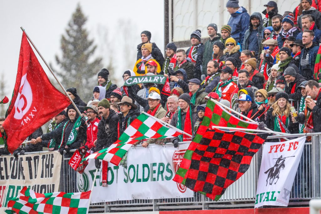 Cavalry FC supporters FC during a match at Spruce Meadows. (Sergei Belski-USA TODAY Sports for CPL)