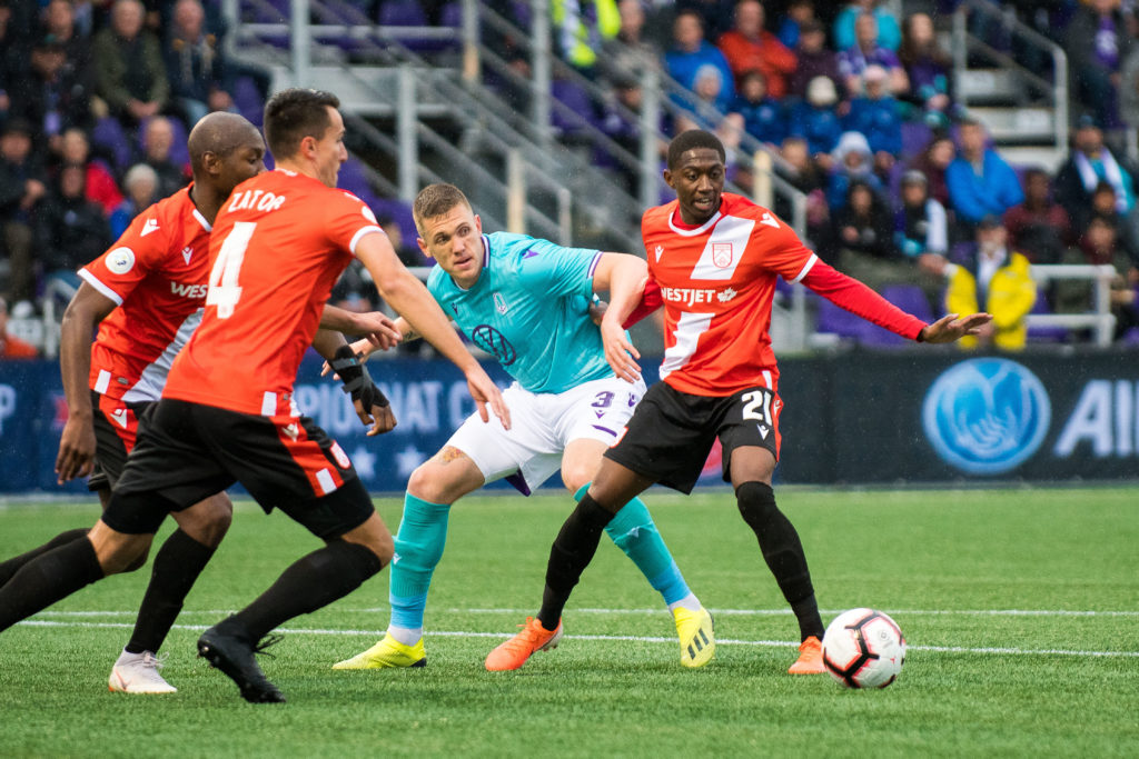 Cavalry vs. Pacific in Canadian Championship action at Westhills Stadium. (Photo courtesy Pacific FC).