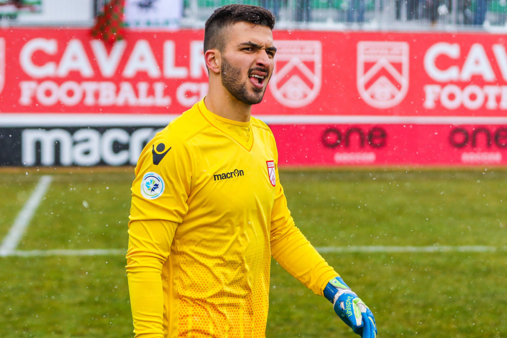 Cavalry FC goalkeeper Marco Carducci in action against York9 FC. (Photo: Sergei Belski-USA TODAY Sports/CPL).