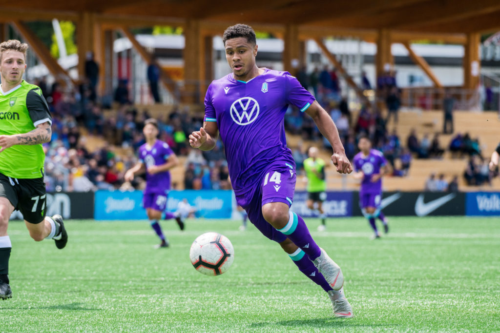 Canadian Premier League - Pacific FC vs York9 - Westhills Stadium, Langford, Canada - May 18, 2019 CPL action with Pacific FC vs York9. James MacDonald/CPL