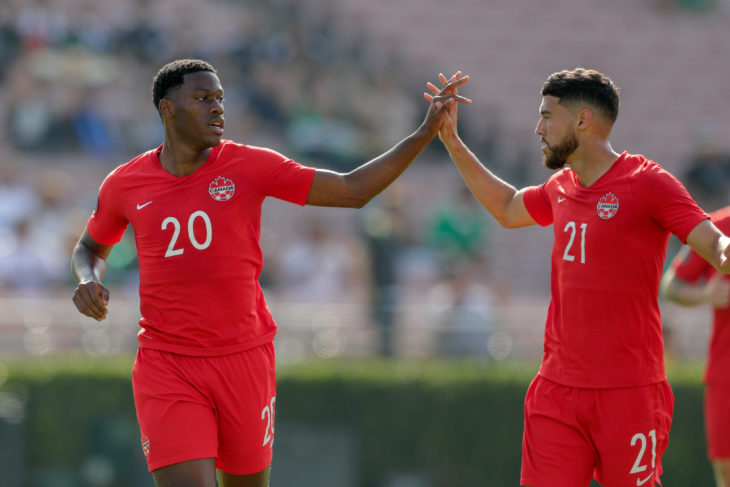 Jonthan David and Jonathan Osorio. (Canada Soccer).