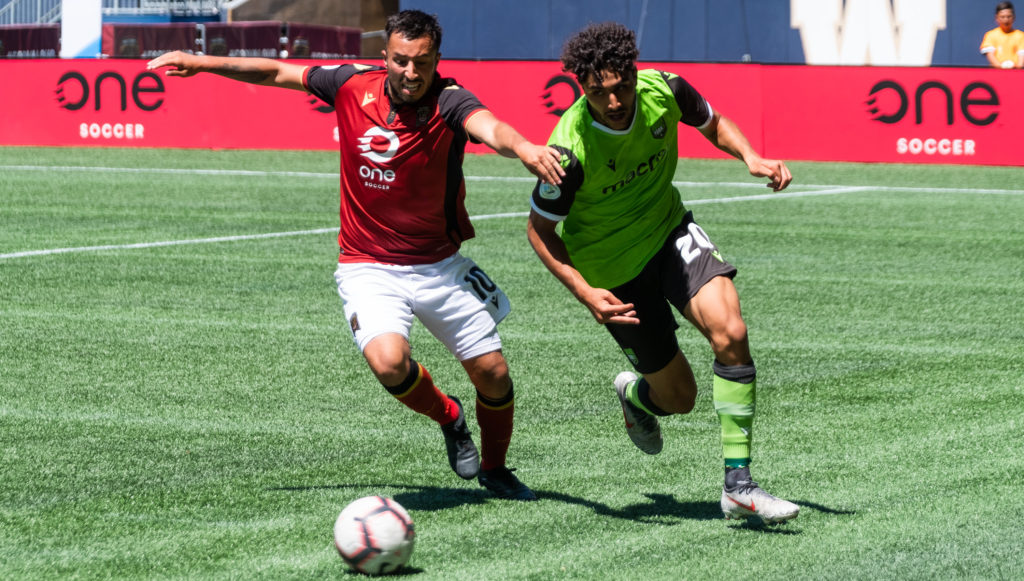 Valour FC takes on York9 FC at IG Field on Canada Day. (Photo: Daniel Crump/CPL).