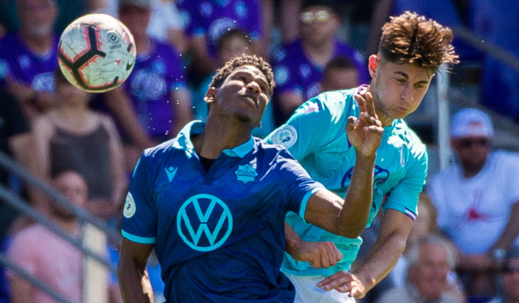 Pacific FC vs. HFX Wanderers at Westhills Stadium. (Photo: Pacific FC).