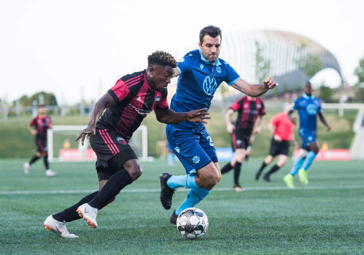 OTTAWA, ON - July 24: Canadian Championship - Ottawa Fury FC vs Halifax Wanderers at TD Place Stadium in Ottawa, ON. Canada on July 24, 2019.PHOTO: Steve Kingsman/Freestyle Photography for Ottawa Fury FC