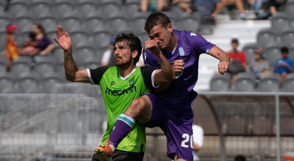 York9 and Pacific FC battle for possession. (Photo: York9 FC).