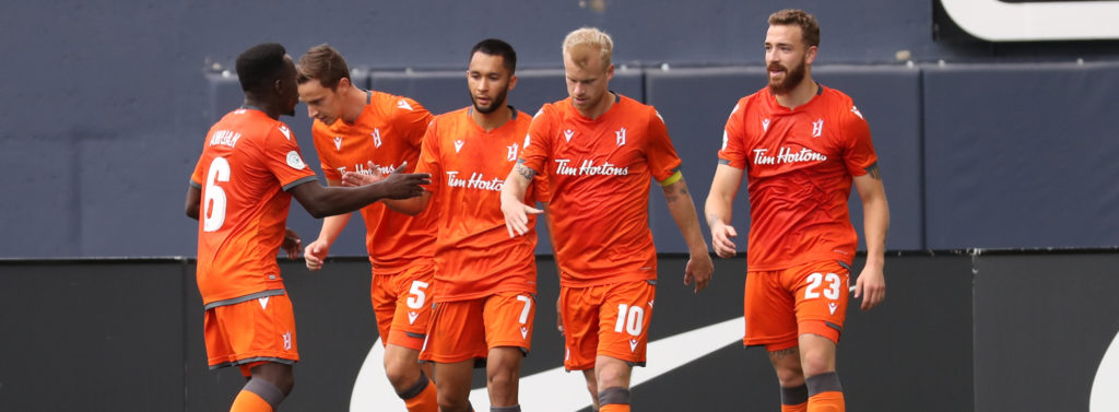 Valour FC match against the visiting Forge FC at IG Field, Saturday August 17, 2019