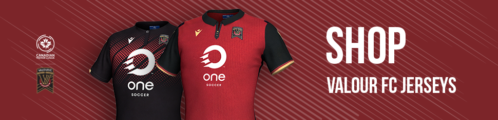 Visit shop.canpl.ca for Valour FC jerseys, hats, and more.