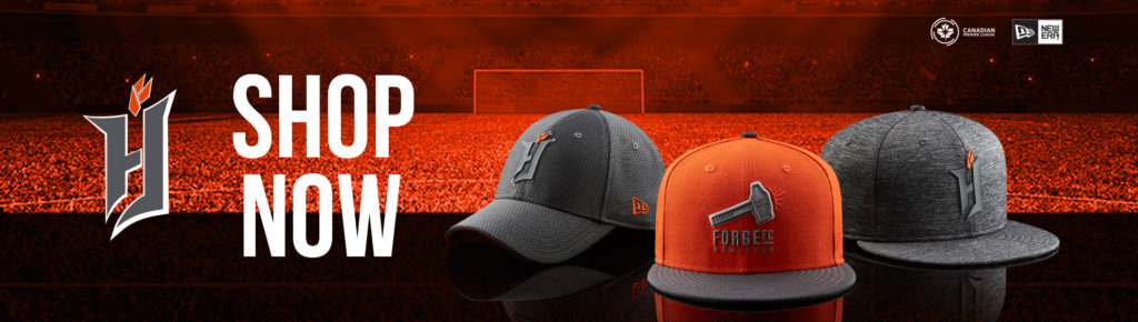 Visit shop.canpl.ca for Cavalry FC jerseys, hats, and more.