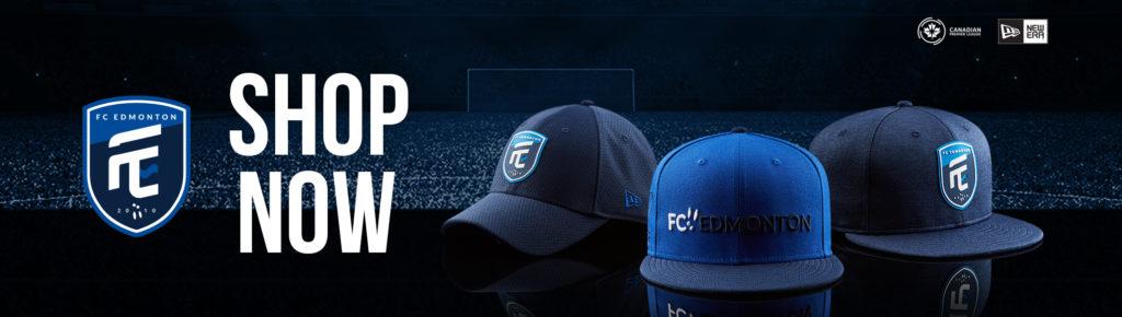 Visit shop.canpl.ca for FC Edmonton jerseys, hats, and more.