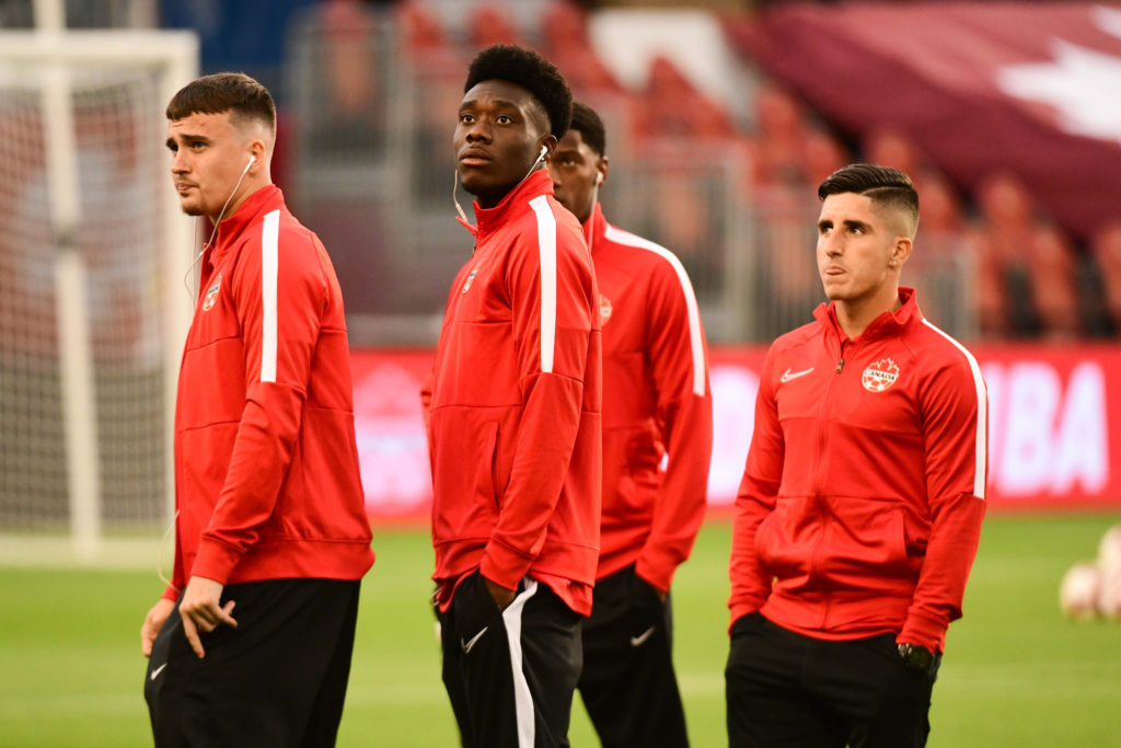 Liam Millar, Alphonso Davies and Juan Córdova. (Canada Soccer).