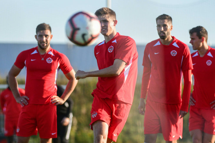 Liam Fraser in training with Canada at Downsview Park. Photo: Martin Bazyl/Canada Soccer