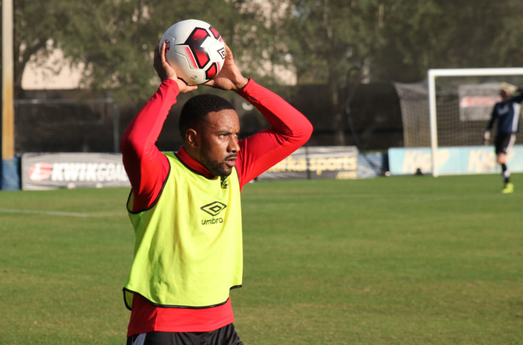 Jamar Dixon in training with the Canadian men's national team.