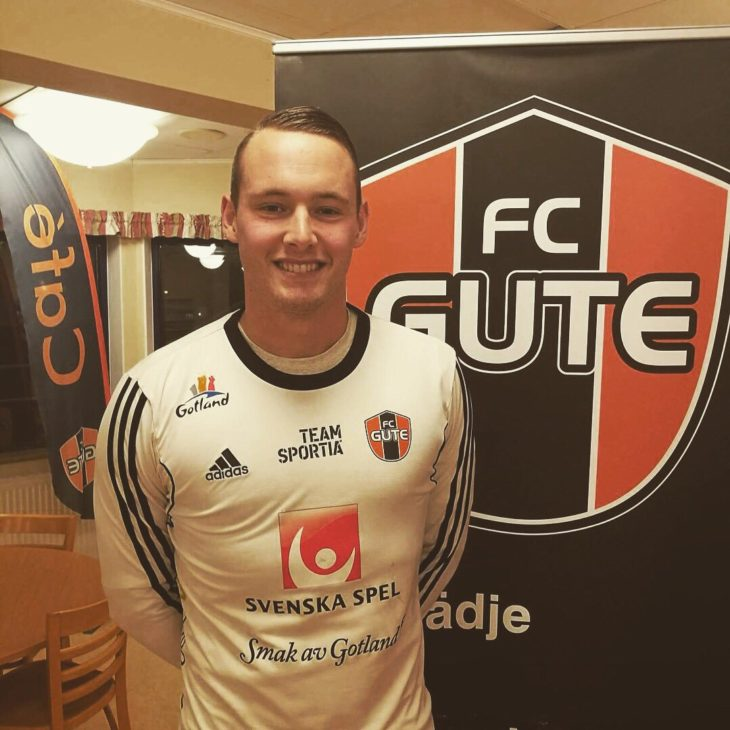 Powley played at FC Gute in Sweden in 2017-18 (Dylon Powley)