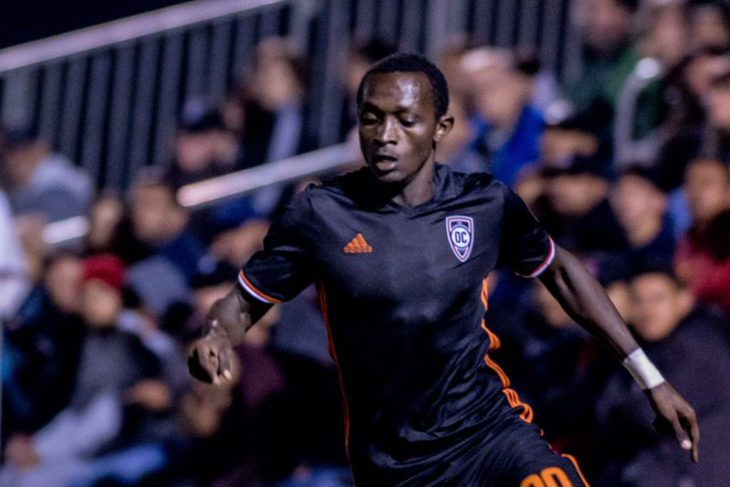 Jeannot Esua with Orange County Soccer Club in 2017 (OCSC/USL)