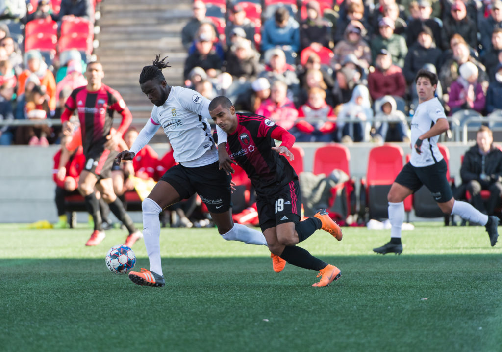 OTTAWA, ON - OCTOBER 13: USL match between the Ottawa Fury FC and Charleston Battery at TD Place Stadium in Ottawa, ON. Canada on October 13, 2018. PHOTO: Steve Kingsman/Freestyle Photography for Ottawa Fury FC