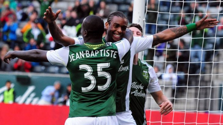 Andrew Jean-Baptiste with the Portland Timbers in 2013. (Major League Soccer)