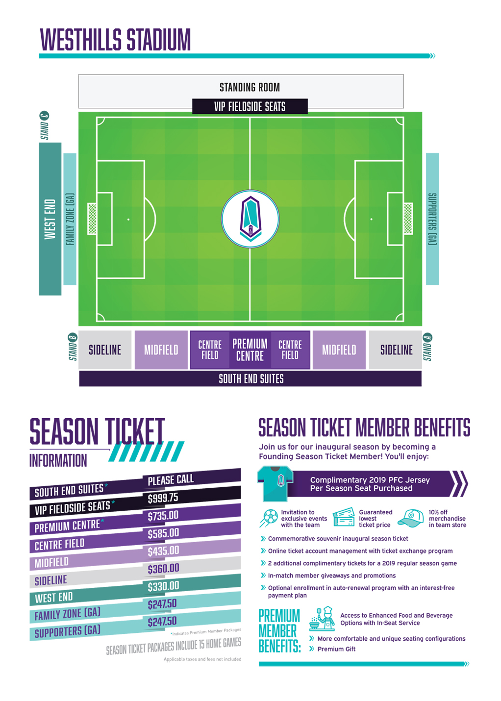 PFC web season ticket page