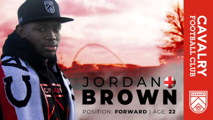 Jordan Brown joins Cavalry FC.