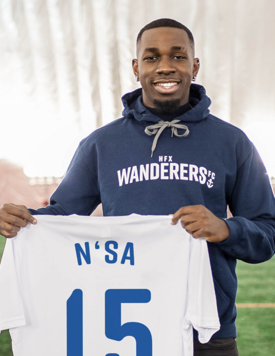 Chrisnovic N'sa becomes the fourth former Montreal Impact academy player to sign for the Wanderers.