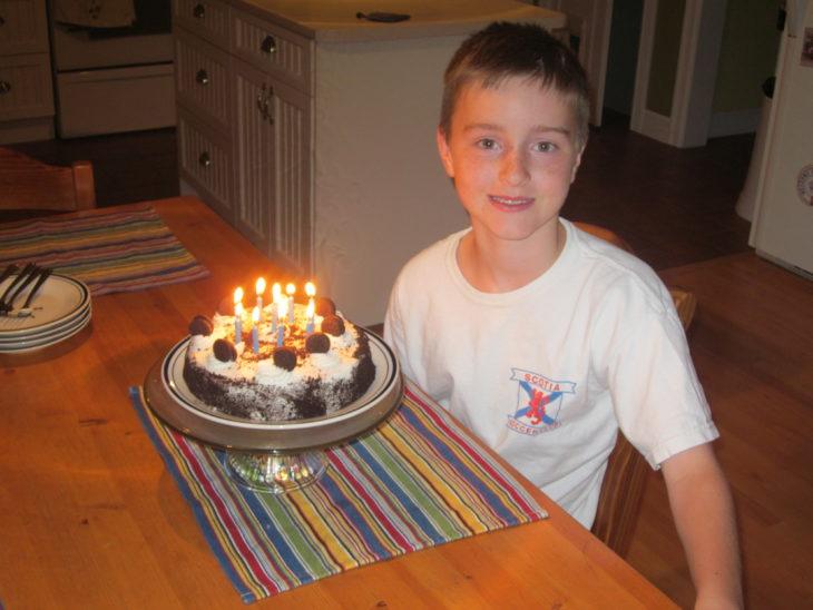 Scott celebrating his 10th birthday