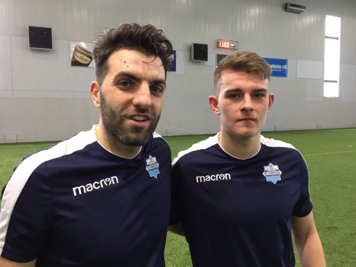 Elliot Simmons (right) and Alex De Carolis said it felt great to be on the pitch together.