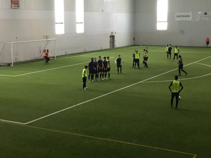 There was a buzz at Soccer Nova Scotia as the Wanderers took to the field for the second day of training camp.
