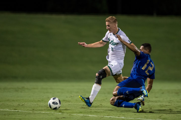 Stephen Hart sees Skublak as a player who gets on the end of things in the box. Photo: USF Athletics.