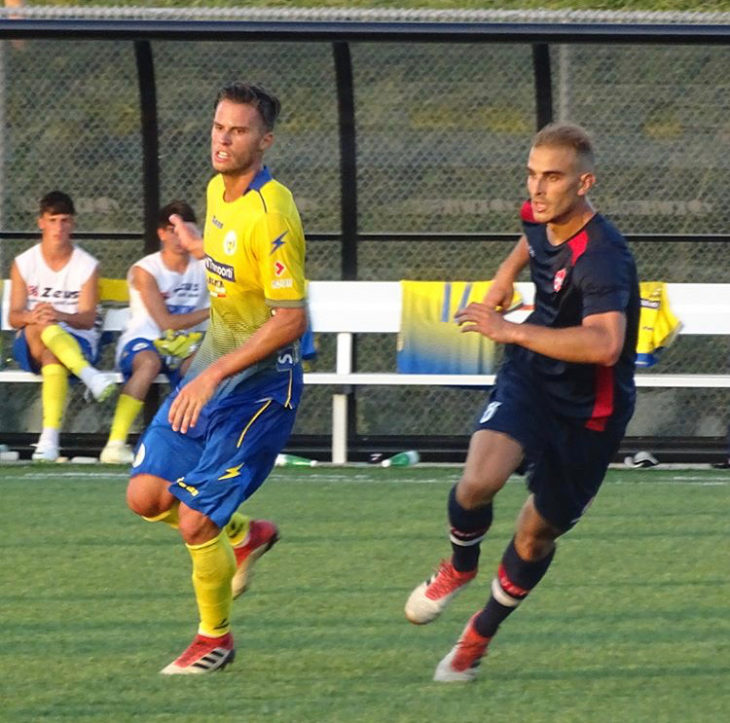 Matthew Arnone shown in full flight for Vaughan Azzurri. (Photo: Vaughan Azzurri)