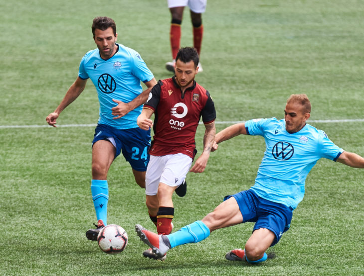 Arnone made his full debut for the Wanderers Saturday against Valour. Photo: Anne-Marie Sorvin USA Today Sports for CPL.