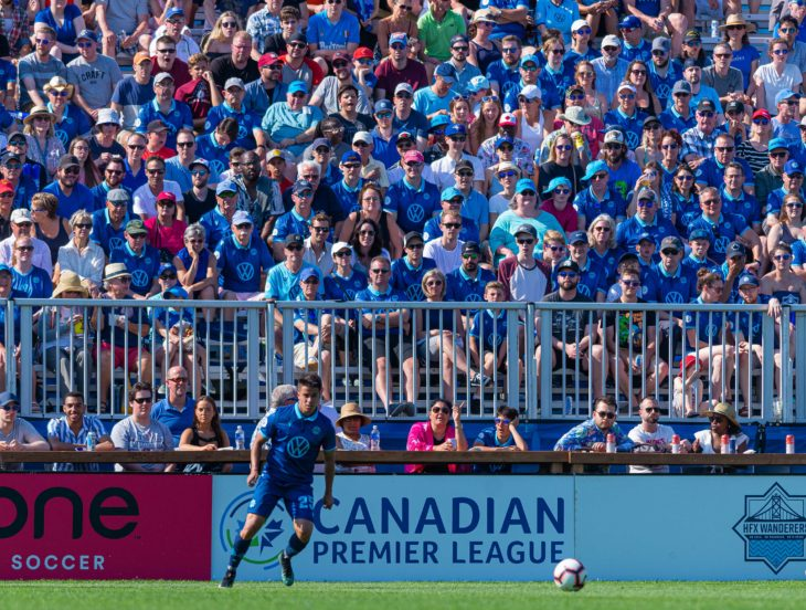 Zachary Sukunda says the Wanderers home form gives them confidence against Ottawa Fury. Photo: Trevor MacMillan.
