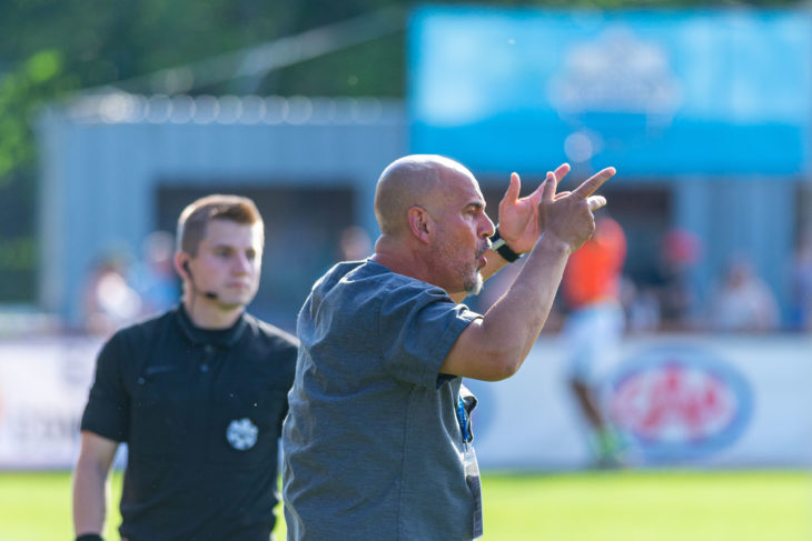 Stephen Hart says while the Wanderers may be considered underdogs, anything can happen in the Canadian Championship. Photo: Trevor MacMillan.