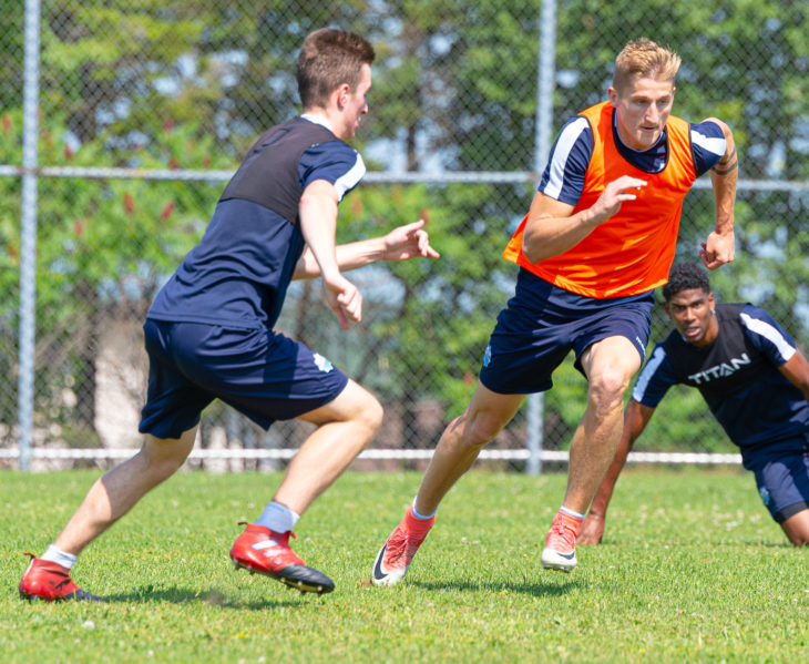 Skublak believes the Wanderers will be able to turn things around by working hard and staying positive. Photo: Trevor MacMillan.