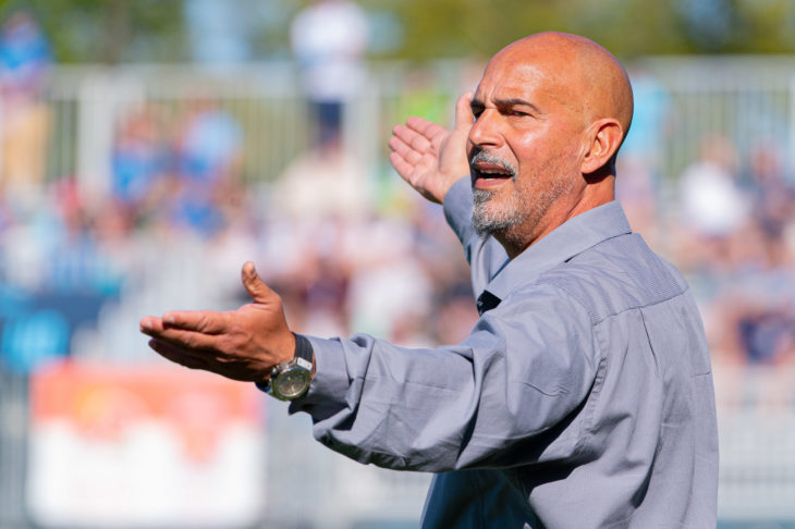 Coach Stephen Hart says the players are playing for pride between now and the end of the season. Photo: Trevor MacMillan.