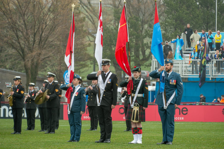 The Stadacona Band at the Wanderers home opener against Forge, May 4th.