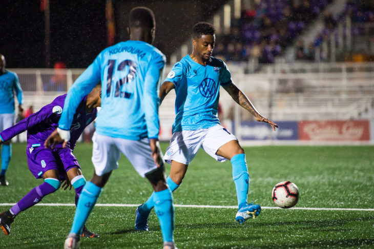 Duran Lee says the players are focusing on matching the intensity of Cavalry in Calgary. Photo: Pacific FC.