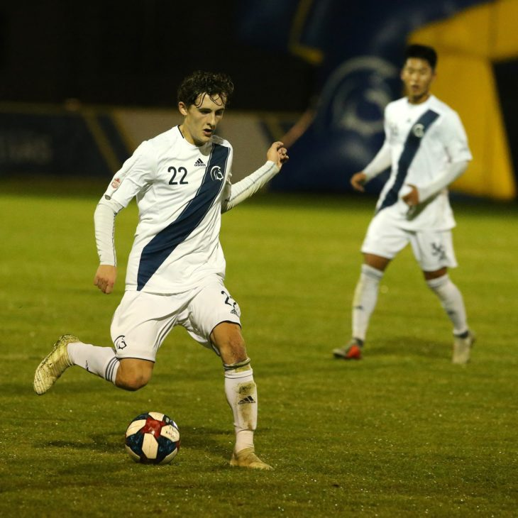 Jake Ruby is being drafted by the Wanderers after a strong first year with Trinity Western University. Photo: TWU Spartans Athletics.
