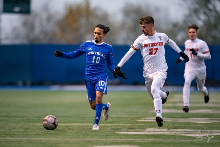 Kreim appeared in three consecutive U Sports finals and was named as the MVP in 2018 when he led the Carabins to a title. Photo: James Hajjar Photographe.