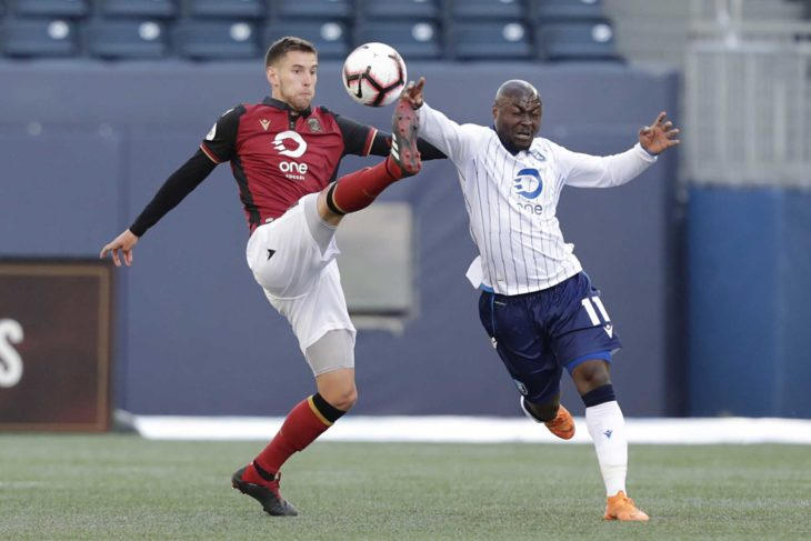 The Wanderers new signing in action for Valour in Winnipeg against FC Edmonton last May. Credit: James Carey Lauder-USA TODAY Sports for CPL.