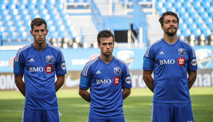 Béland-Goyette lining up alongside fellow new Wanderers signing Alessandro Riggi in their Montreal days together. Photo: Montreal Impact.
