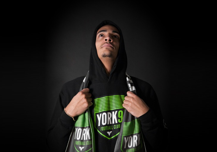 Simon Adjei, striker for York9 FC.