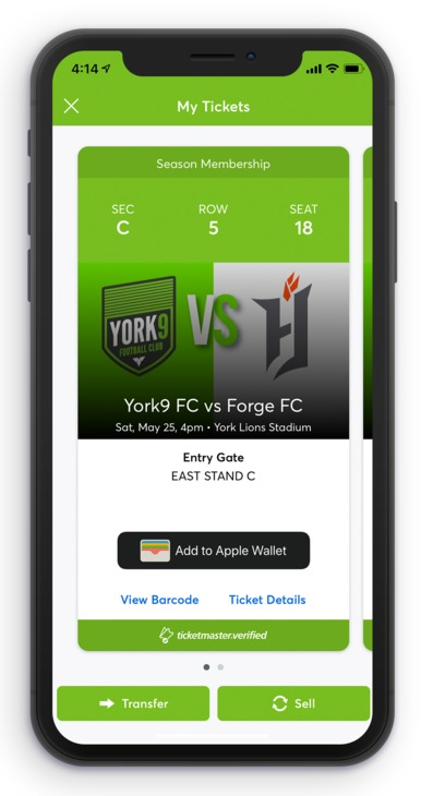 Ticket landing page