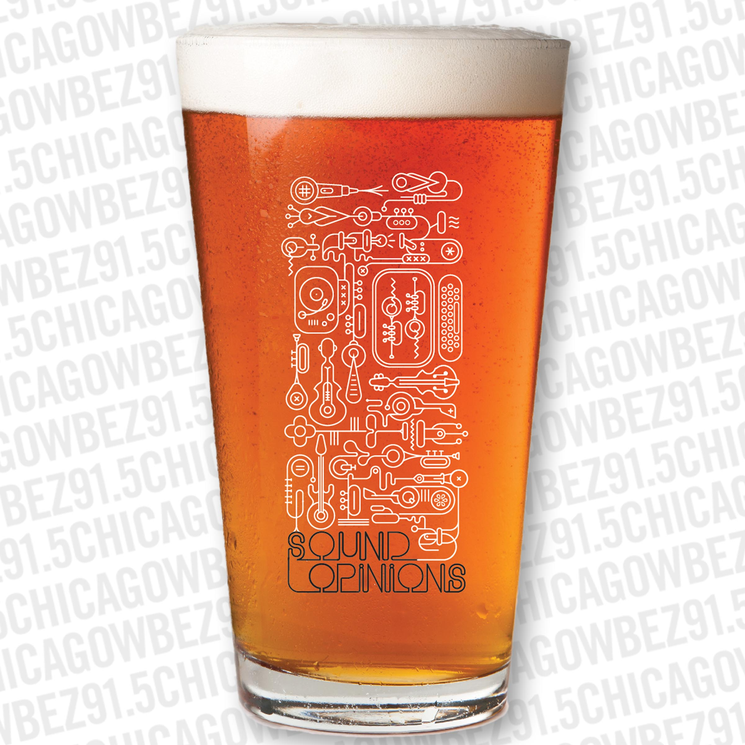 Sound Opinions Pint Glass